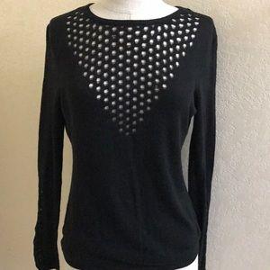 Stitch Fix Black Cutout Sweater